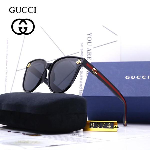 Verão estilo itália marca abelha óculos de sol meia armação mulheres homens designer de marca uv proteção óculos de sol lente clara e lente de revestimento sol
