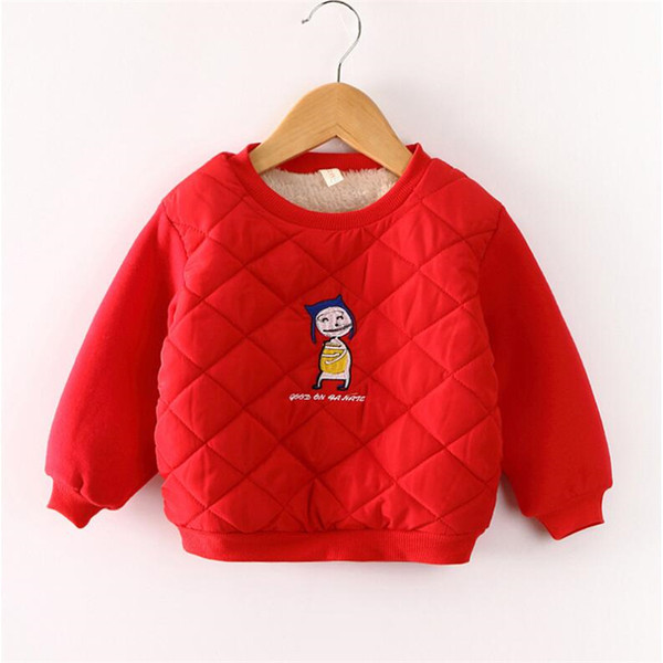 Gute qulaity frühling winter kinder cartoon pullover kinder mädchen jungen langarm casual verdicken warme hemd pullover baby kleidung