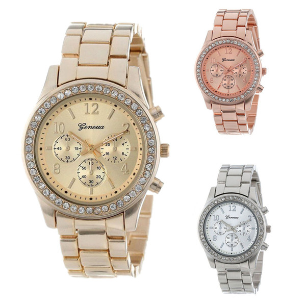 Geneva Classic Rhinestone Watch Women Watches Fashion Ladies Watch Women's Watches Clock Reloj Mujer Relogio Feminino