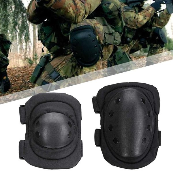 4Pcs/set Tactical Paintball Protection Motorcycle Tactical Knee Elbow Pad Protective Safety Gear Army Training