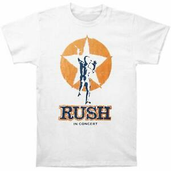 Аутентичные RUSH Tour of UK 1978 Футболка Slim Fit белая S M L NEW