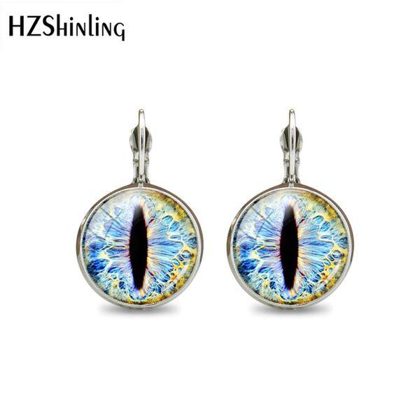 2019 New Style Eye Glass Cabochon Earring Handmade Silver Clip Earrings Jewelry Charm Art Photo Hook Earring Best Gift For Women