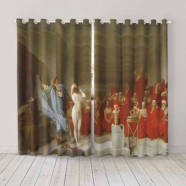 Personality Custom curtain world famous painting Phryne before the Areopagus drapes Extra wide Blackout curtain party decoration background