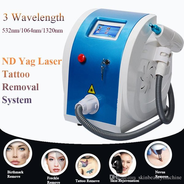 ND YAG LASER Tattoo Removal Beauty Salon Machine Tattoo Freckle Removal Mole Dark Spot Pigment Acne Scars Remover Laser Machine