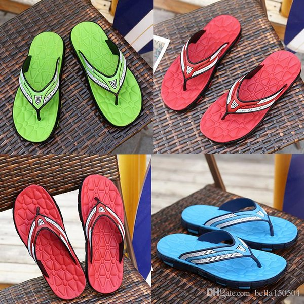 fashion designer Sandals Rubber Slide Sandal Slippers Green Red blue Stripe Designer Men Classic Summer Flip Flops Outdoor beach Sandals