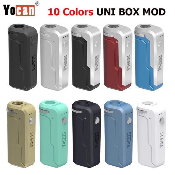 Original Yocan UNI Box Mod 650 mAh Bateria com Altura Ajustável Correspondendo a Todos os Estilos de Atomizadores Cartucho Vazio com Pré-aquecimento
