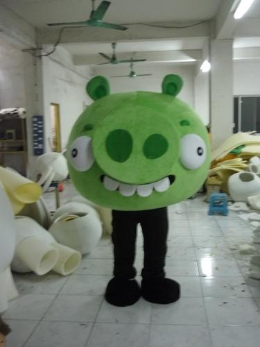 Cadılar bayramı aptal büyük domuz Maskot Kostüm En Kaliteli Karikatür Yeşil Domuz Anime tema karakter Noel Karnaval Parti Kostümleri