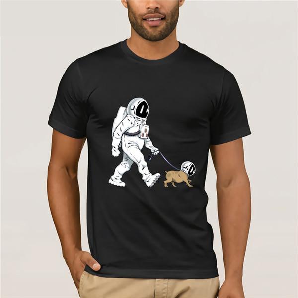 The Walking Dead Camiseta hombre SpaceX Spaceship camiseta Astronaut Dog Cool camiseta Rocket camiseta homme StarmanX Space dog Tees Tops