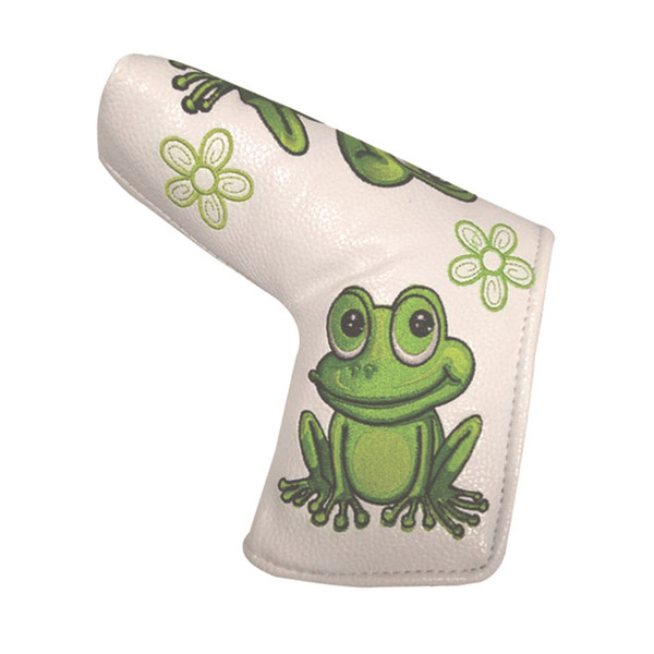 Animal Embroidery Golf Putter Headcover Golf Blade Headcovers with Frog Cartoon 5Options