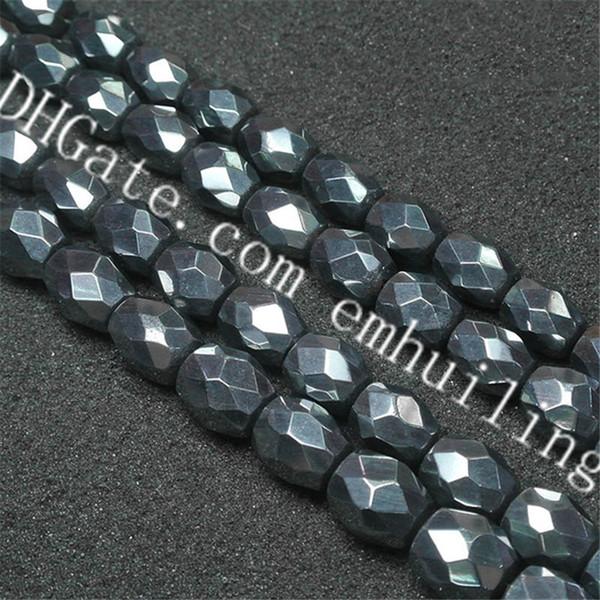 1 Strand 13x17mm Small Irregular Terahertz Ore Stone Beads Synthetic Top Grade Terahertz Faceted Semi Precious Gemstone Nugget Loose Beads