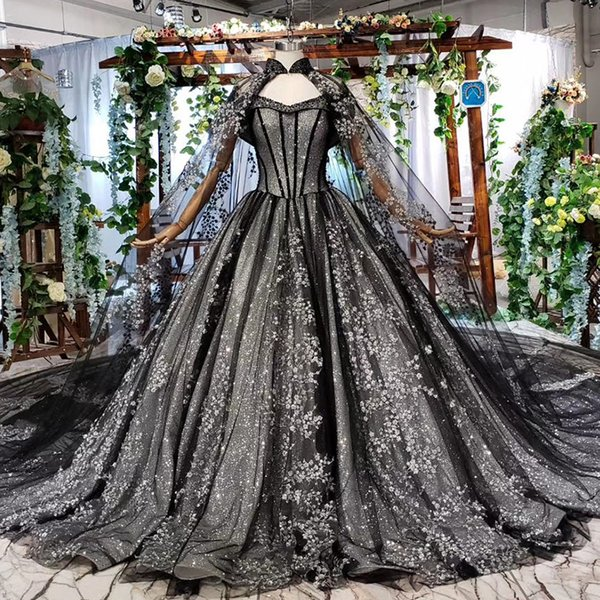 2019 Heavy Manual Evening Dresses High Neck Lace Shawl Sweetheart Neck Off the Shoulder Short Sleeve Backless Lace Up Back Formal Gowns New