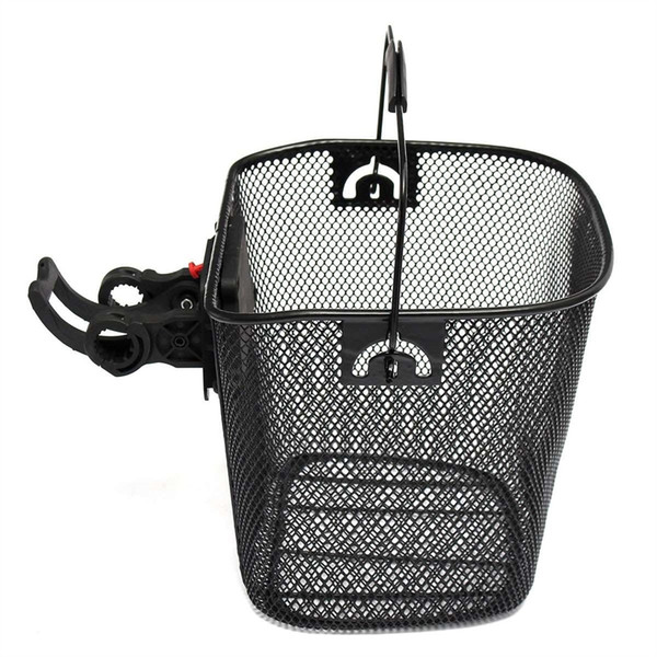 Metal Mesh Basket for MTB Mountain Bike Cycling Bicycle Front Foldable Basket Riding Rear Pannier Quick Release Shopping Handle #106763