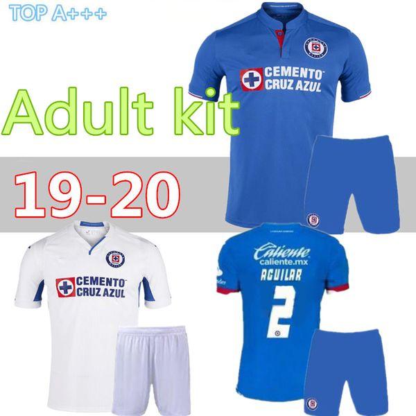 Kit für Erwachsene 2019 2020 Mexico Club Cruz Azul Liga MX-Trikots 19 20 Cruz Azul man kit Heimtrikots T-Shirts und Shirts