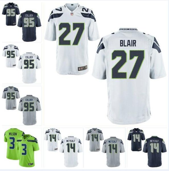 sneakers for cheap 8165e e85a1 2019 LJ Collier Seahawks Jersey DK Metcalf Russell Wilson Travis Homer  Demarcus Christmas Earl Thomas Custom American Football Jerseys Rugby 4xl  From ...