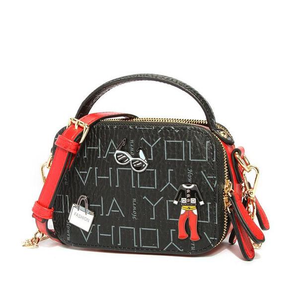 Kadınlar için YENI moda Omuz PU Deri Çanta Kız Basit Saf Mini Messenger Göğüs Çanta Çapraz vücut Çanta bolsa feminina