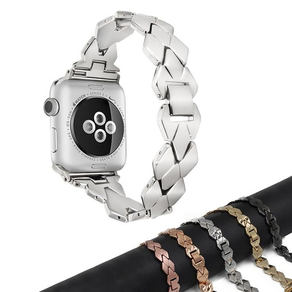 Stainless Steel Strap for Apple Watch Band 42mm/38mm iwatch 4 3 2 1 Band 44mm 38mm Metal Bracelet Belt Watchband Watch Accessories