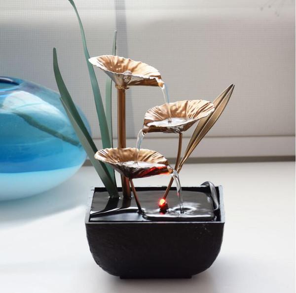 5 stili Feng Shui ruota fontane di acqua coperta resina artigianato regali desktop decorazione fontana di acqua per la casa del tè casa decorazione