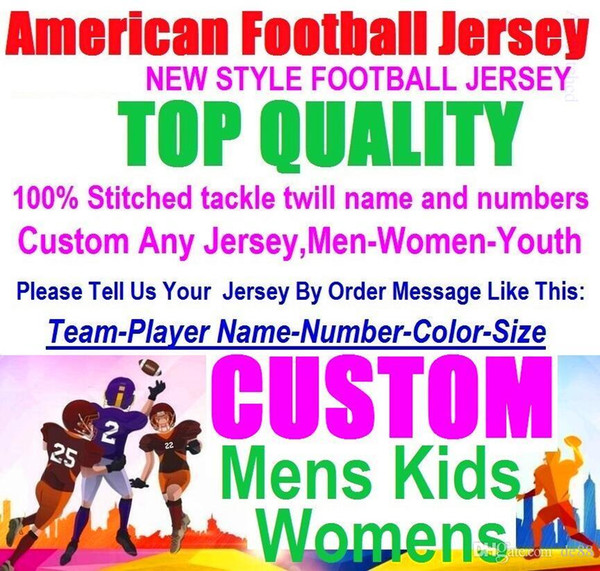 Alle genähten Custom American Football Trikots Carolina Chicago College authentischen billigen Baseball Basketball Mens Womens Jugend USA 4xl Spieler