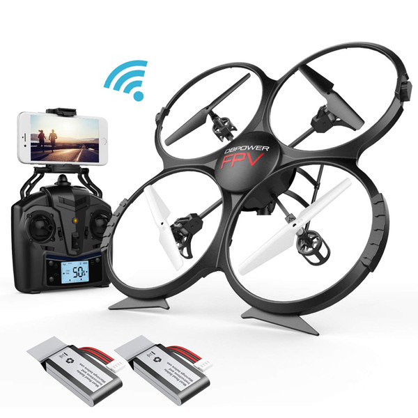 Drone DBPOWER U818A Discovery FPV WiFi Drones with Camera for Beginners Kids Teens,Quadcopter UAV with Altitude Hold Headless Mode  3D Flips