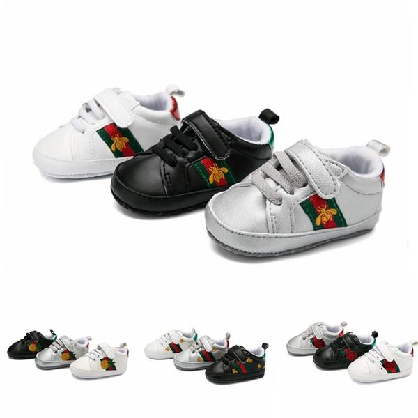 Yeni Moda Bahar Yenidoğan Bebek Kız Yumuşak Alt Düz Ayakkabı Çocuk Çocuklar İlk Walkers Erkek Sneakers Bebek Yürüyor Ayakkabı Koşu Ayakkabı