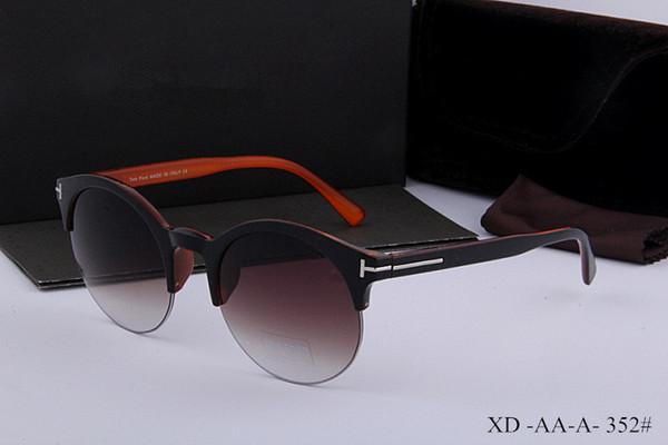 de lujo superior calidad de dicha cantidad grande de la nueva manera 709 Tom gafas de sol para mujer del hombre Erika Gafas Primera marca Ford gafas de sol con la caja original tom 352
