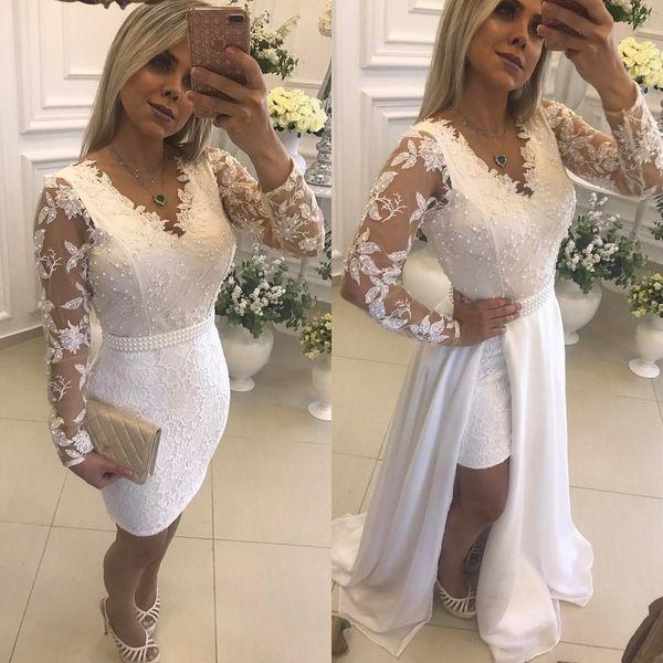 Vestidos De Noiva Tradicional 2019 Sereia Do Vintage Vestidos De Casamento Praia Mangas Compridas Vestido De Noiva Maternidade Grávida Vestidos De