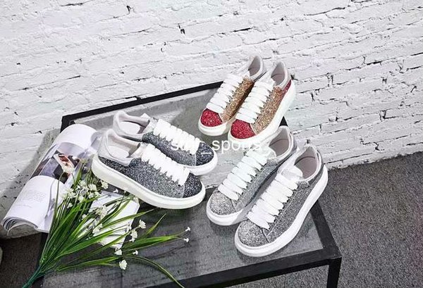 2019 New Brand Fashion Luxury Women Men Designer Shoes Comfortable Lace Up Casual Shoes Designer Sneakers Eur 36-45