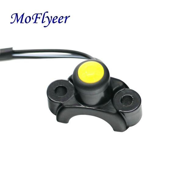 Кнопка переключателя мотоцикла MoFlyeer Крепление на руль Реле с переключателем электропитания с жгутом проводов Красный Желтый Черный Кнопка