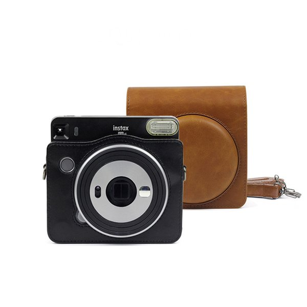 Instax SQUARE SQ6 Camera Bag Vintage PU Leather Case Shoulder Strap Pouch Camera Carry Cover Protection Bag