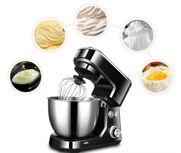 Food Processor Stainless Steel Bowl 6-speed Kitchen Food Stand Mixer Cream Egg Whisk Blender Cake Dough Bread Mixer Maker Machine