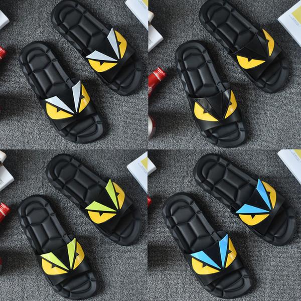 Designer Slippers Eye Monster Brand Desinger Slides Mens Flip Flops Summer Fashion New Tide each flip flops slipper beach sandals