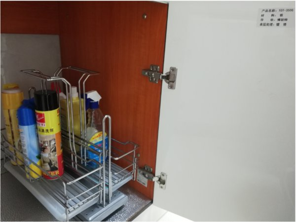 TKK TOT 350G Kitchen Cabinet Basket Soft Stop Slide Steel Under Sink Chrome  Wire