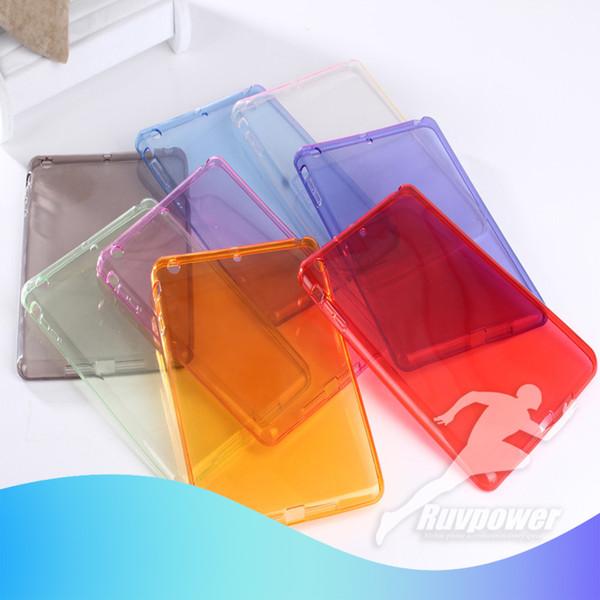 New Candy Color Crystal TPU Trasparente Cover morbida Custodia Skin Silicon Back Cover Slim per iPad mini Air pro HUAWEI M5 Samsung TAB