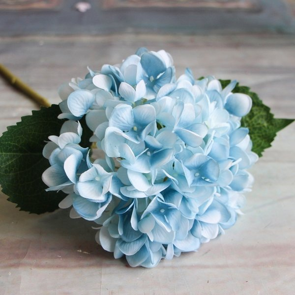 Compre Flores Artificiales 1 Unid Hortensias Bouquet Decoración Del Hogar Arreglos Florales Del Banquete De Boda Decoración C19041701 A 1185 Del