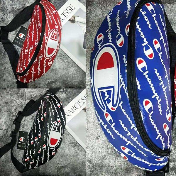 Унисекс Champions Print PU Кожаная сумка Fanny Спортивная регулируемая сумка для ремня для путешествий Сумки через плечо с талией Сумка на молнии на плечо New C495
