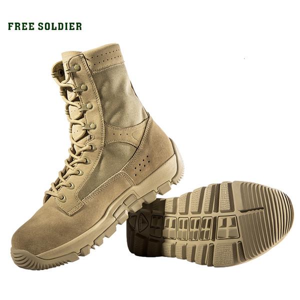 SOLDADO GRATIS deportes al aire libre para acampar zapatos tácticos resistentes al desgaste transpirable senderismo de arranque para los hombres T190920