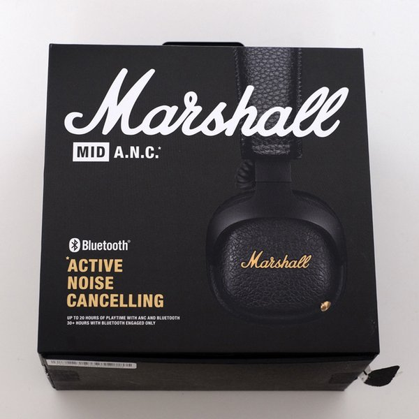 Marshall MID ANC Active Noise Cancelling A N C Bluetooth Headphones Black  Wireless Headset Best Headphones Under 100 Head Phones From Solotech,