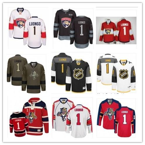 2019 FloridaPanther jersey Gray Blue Gold 1 Roberto Luongo Colton Parayko Men Women Youth hockey jersey