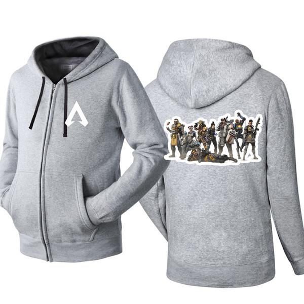 Apex Legends Game Hip Hop Hooded Cardigan for Men Zipper Comfy Spring Autumn Hoodies Long Sleeve Sweatshirts Male Jackets Coat