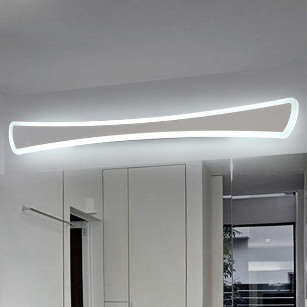 Современные светодиодные зеркальные светильники 0.4M ~ 1.2M настенный светильник Ванная комната спальня изголовье настенного бра lampe deco Anti-fog espelho banheiro