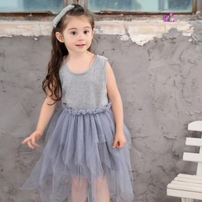 Платье девушки Платья балетной пачки Детская одежда Детская одежда Летние платья Тюль Платье Платья принцессы Платье с рюшами