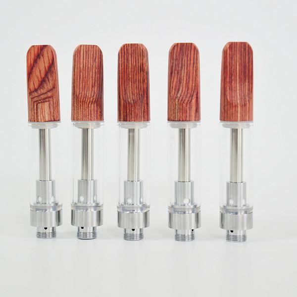 Новый Dabwoods Vape Pen Картриджи Одноразовые Vape Упаковка из натурального дерева Подсказка Керамические Coil Пусто Тележки 510 темы / 0,8 мл 1,0 мл Ecigs Картриджи