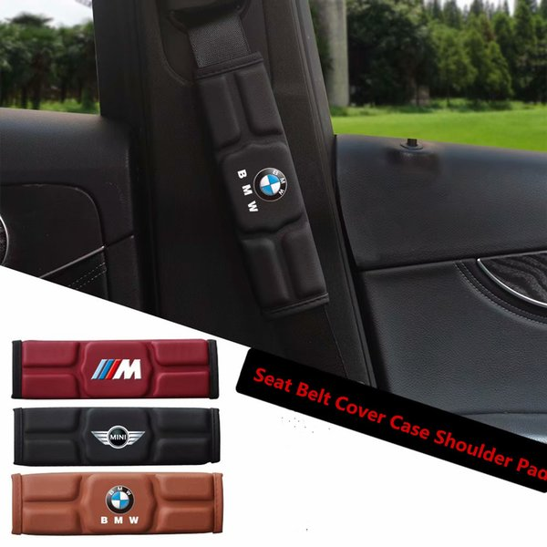 Car Seat Belt Cover Case Shoulder Pad for BMW E30 E39 E46 E90 E60 F10 F30 X5 X3 X6 M3 M5 330i Red Black Brown Memory Cotton
