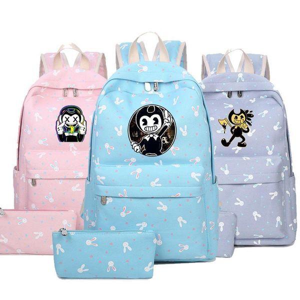 Cartoon Children Kids Game Backpack Bendy Anime School Bagpack For Teenage Boys Students Child School Book Bags