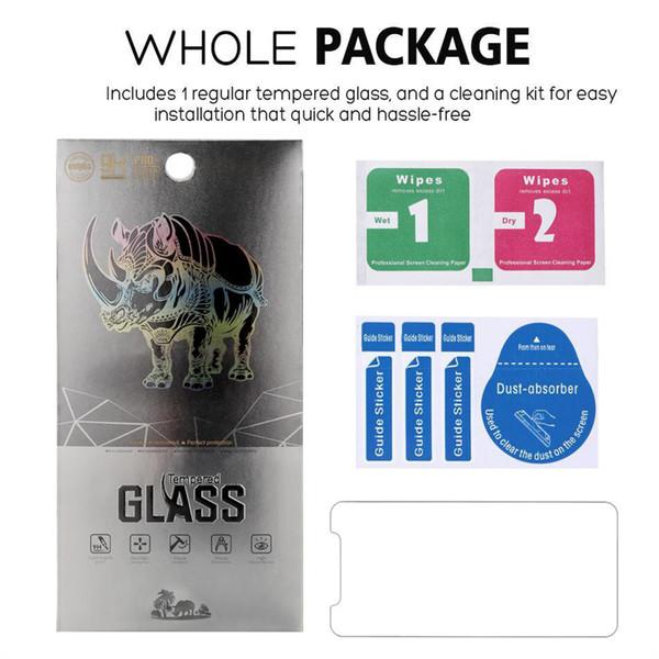 For IPhone XR XS MAX 8 7 Plus Huawei P30 P20 Lite Samsung J7 J3 Prime S7  Tempered Glass Screen Protector For Moto E5 Plus Alcatel 1X Glass Premium