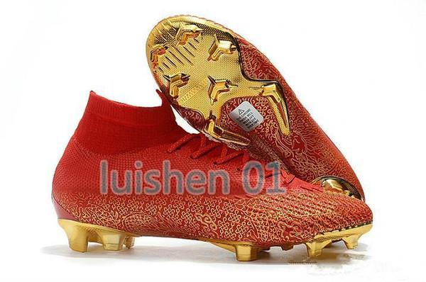 Desiger 2019 Kelime Fincan Futbol Çizmeler Erkekler Mercurial Superfly VI 360 Elite Neymar FG Futbol Ayakkabıları Yüksek Ayak Bileği CR7 Kapalı Futbol Cleats uo3