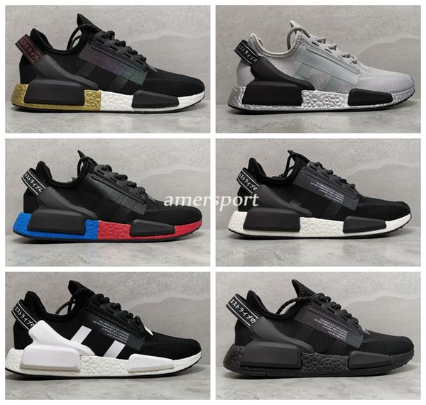 2020 Nouveau coureur NMD R1 V2 métallisé or noir hommes femmes Chaussures de course de sport de XR1 Hommes Chaussures Hommes formateurs Taille 36-45