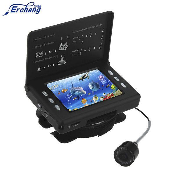 Erchang F7 LED infrarossi 320 * 240 video LCD Fish Finder 3000mAh Batteria 15m impermeabile Pesca fotocamera su Rod DVR Fishfinder