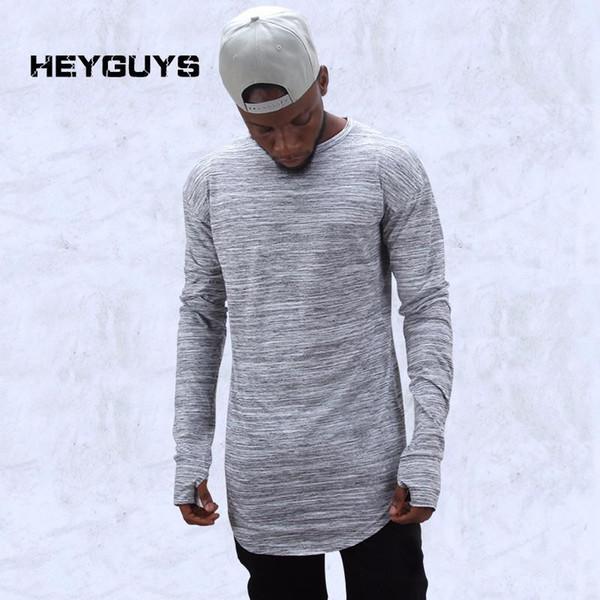 Free Shipping Hot 2019 extend hip hop street T-shirt wholesale fashion brand t shirts men summer long sleeve oversize design hold hand