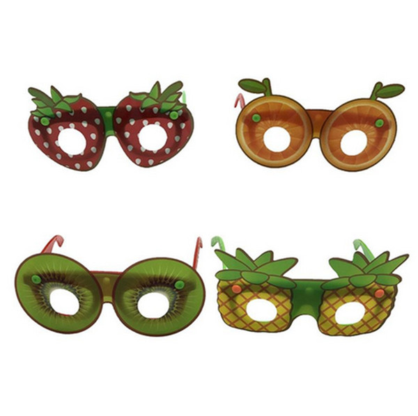 2019 new Creative Fruit Shaped Sunglasses Fashion Children Decorative Glasses Handmade DIY Party Cartoon Eyewear Party Favor good item